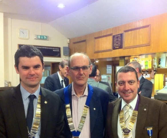 Sean Spinetto (RT Chairman) Peter Quine (41 Chairman) and Gary Simmons (RT President)
