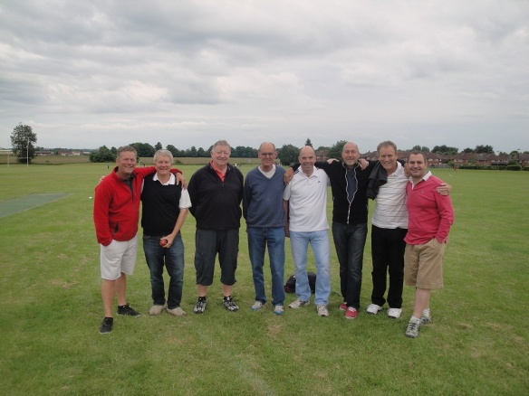The Team: Mark, Nick, Mike, Chairman Peter;Brett, Steve, Ian and Stuart (plus Jim who was late and missed the photo-call)