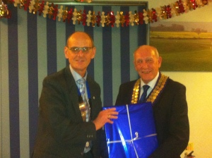 Presentation of gift to Chairman Peter