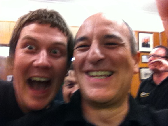 """Give a Tabler a camera to photograph the winners and they cannot resist a """"selfie""""!"""